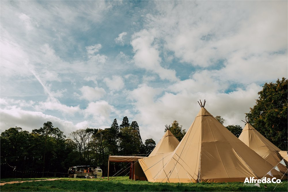 Tipi at Dorfold Hall, Cheshire