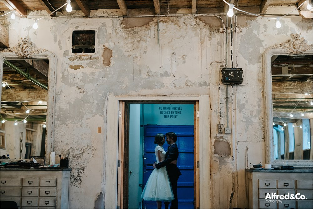 quirky wedding photography at holmes mill