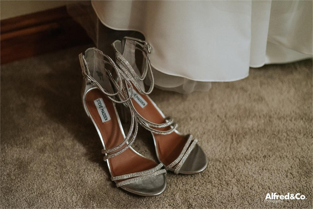 bridal shoes in room at beeston manor