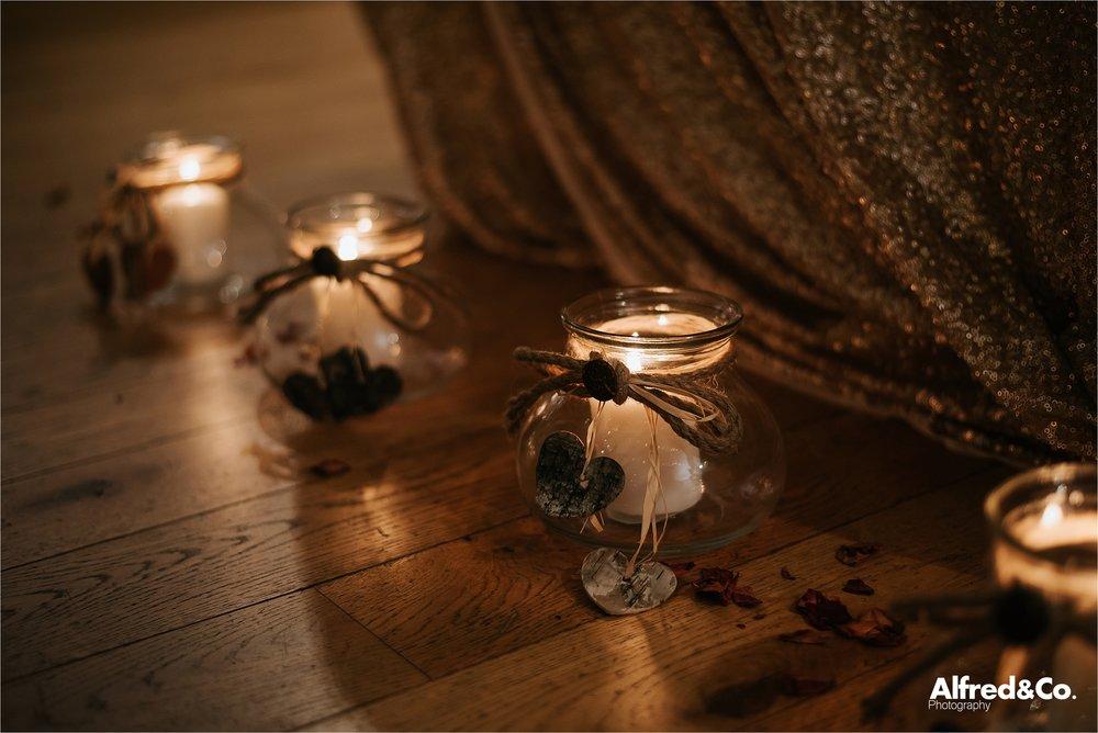 Gorgeous candlelit wedding at beeston manor
