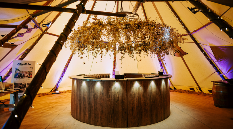 Big Chief Tipis Bar that you can hire