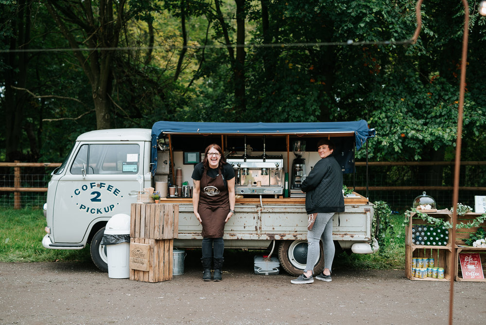 Das Camper Collective offer a coffee and prosecco van