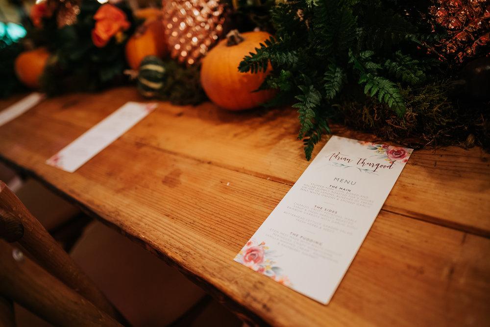 invite on table