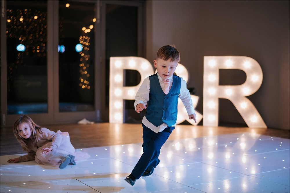 little boy on dance floor