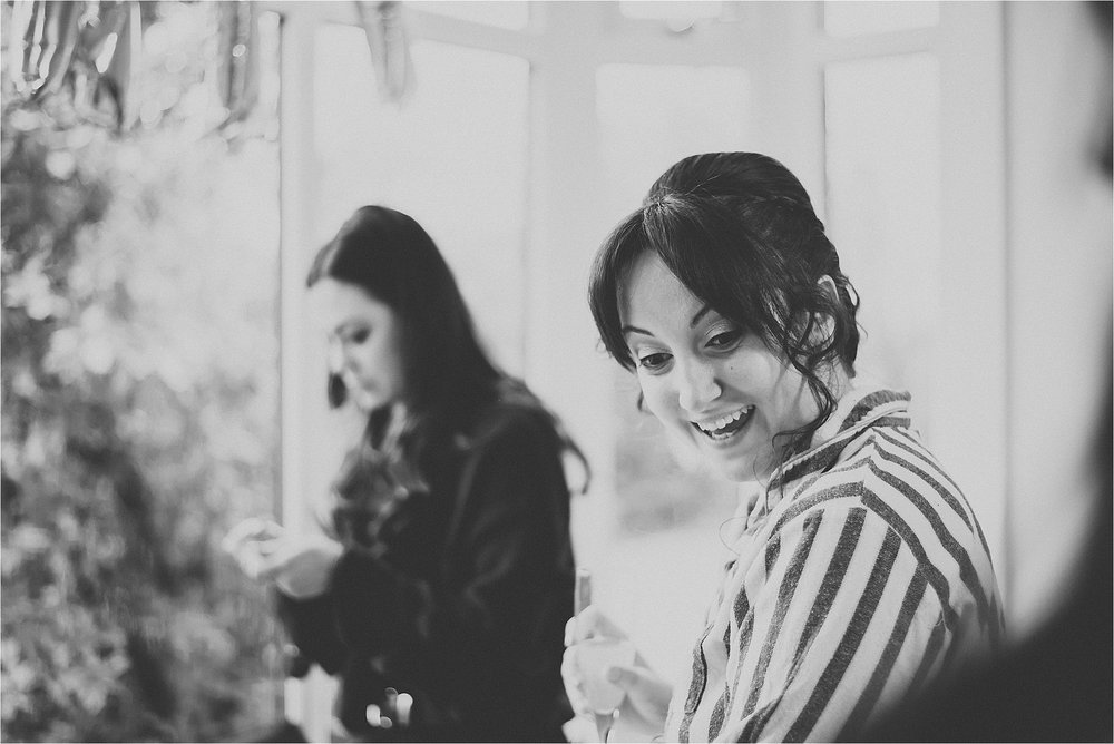 bride getting ready for cheshire wedding