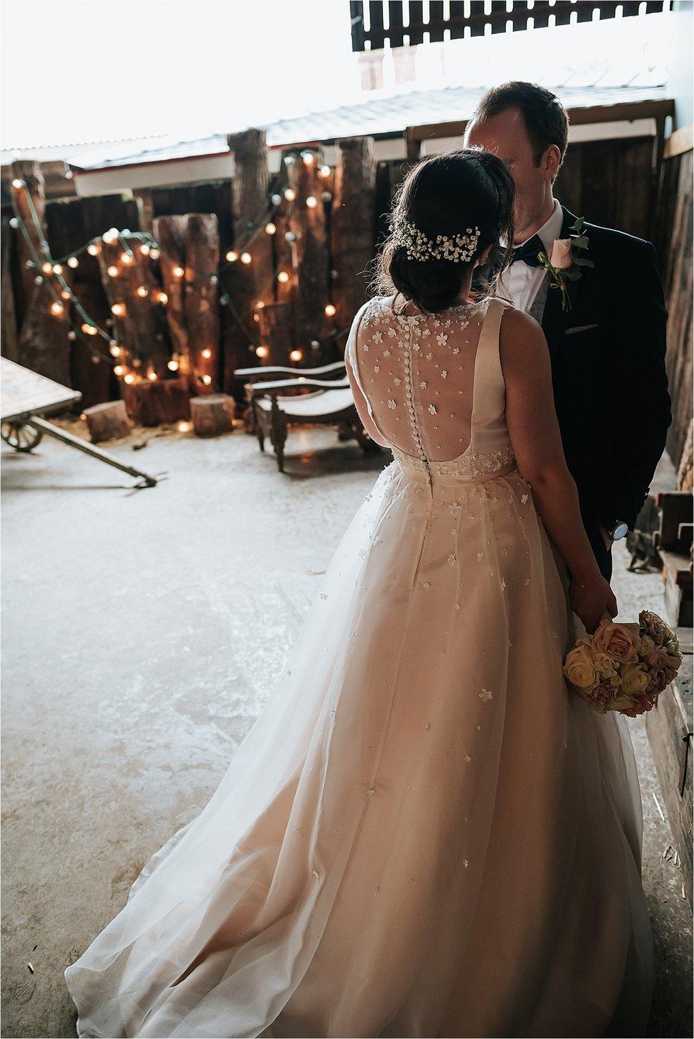 winter wedding at owen house wedding barn