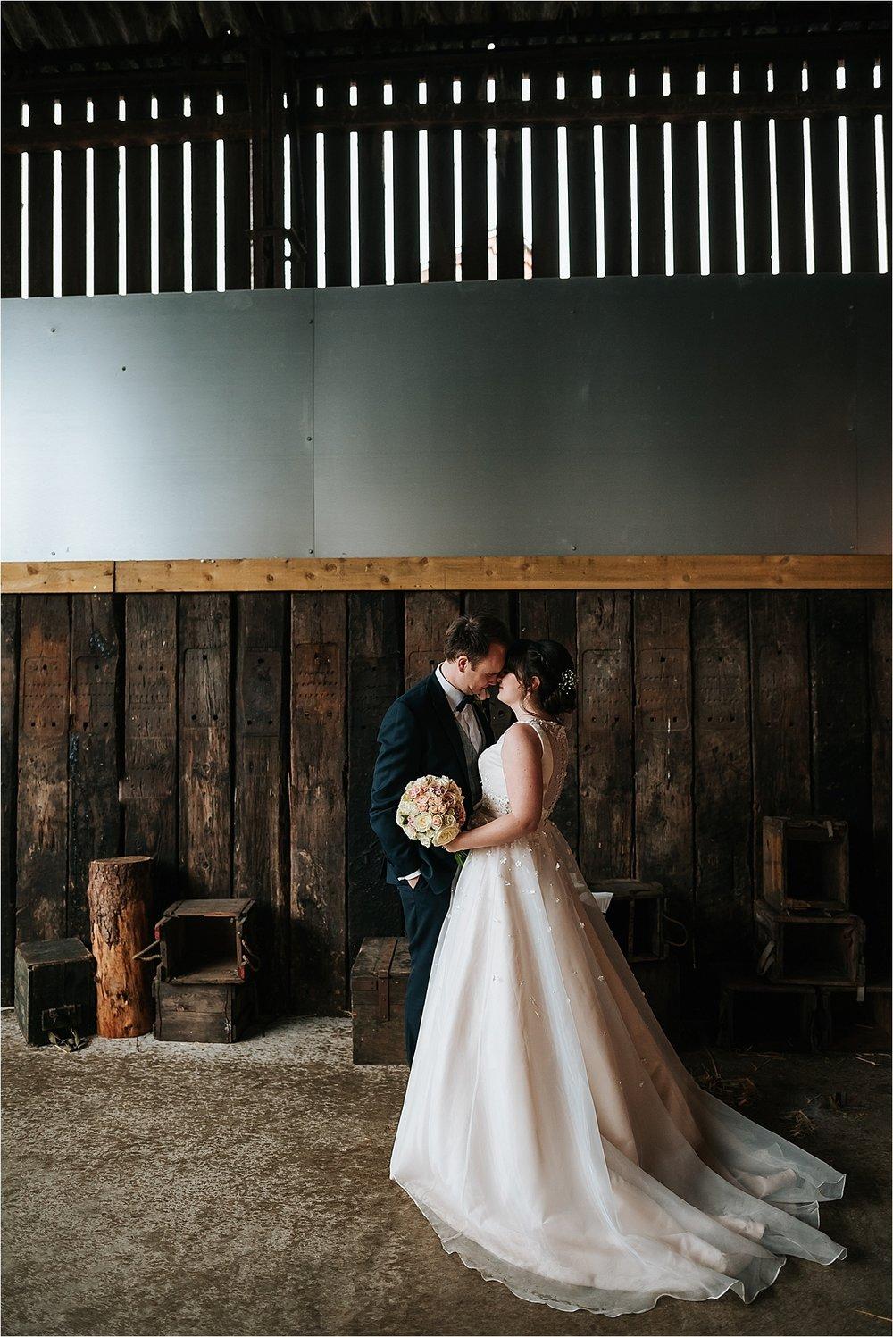 wedding portraits at owen house wedding barn