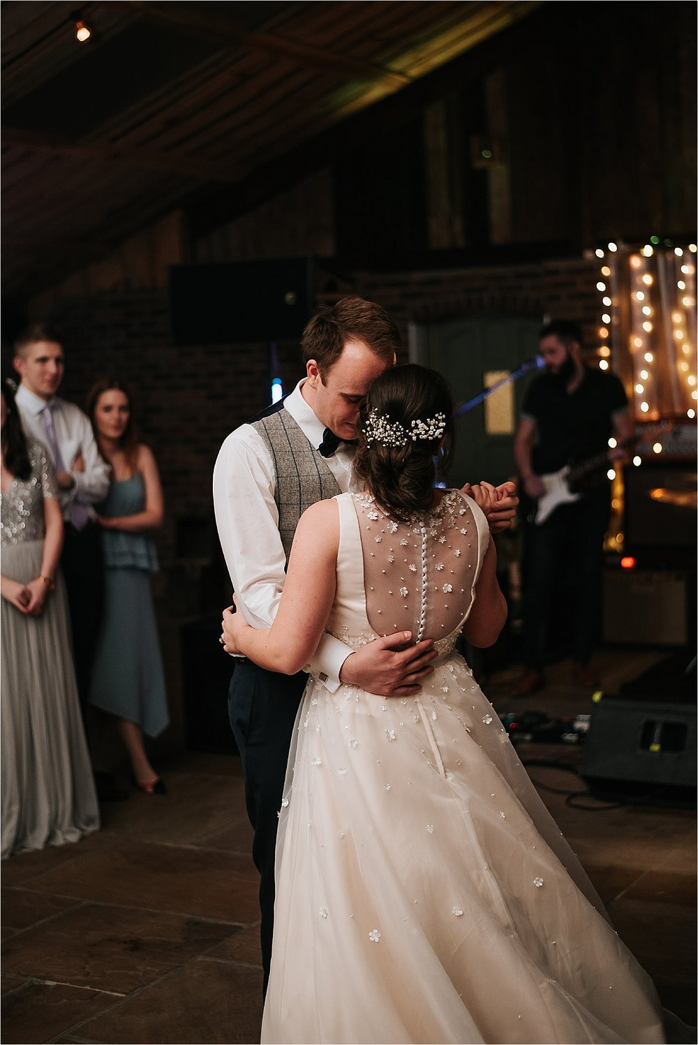 first dance at owen house wedding barn