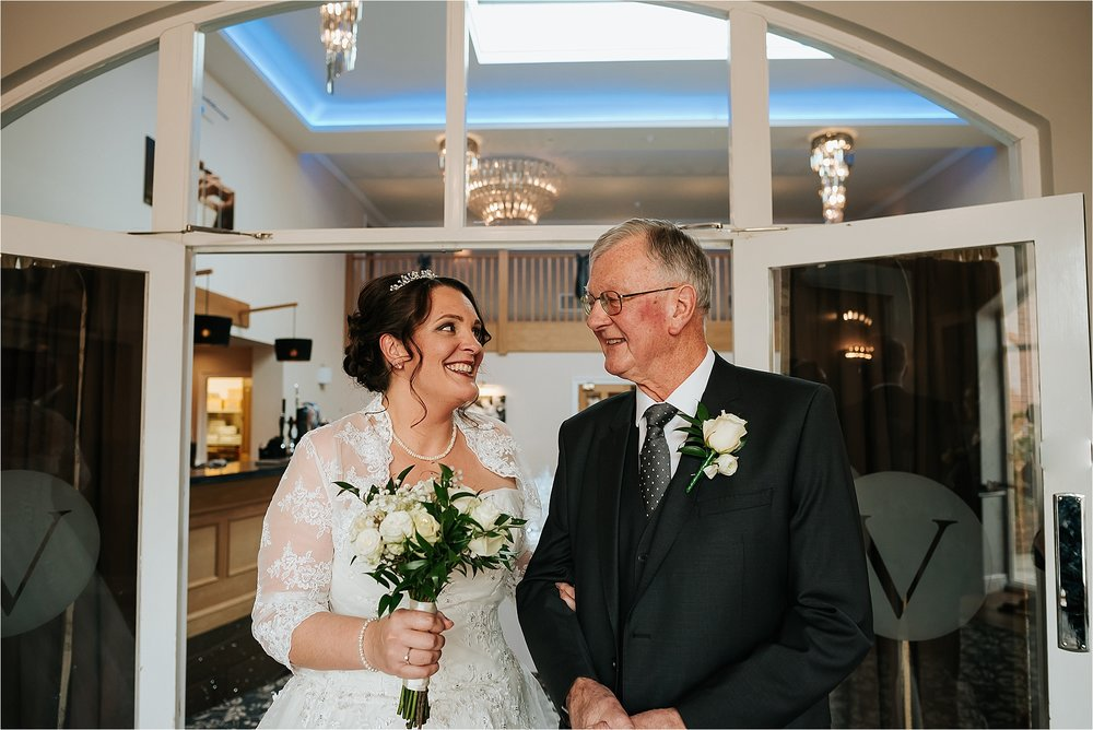 bride and her dad at wedding