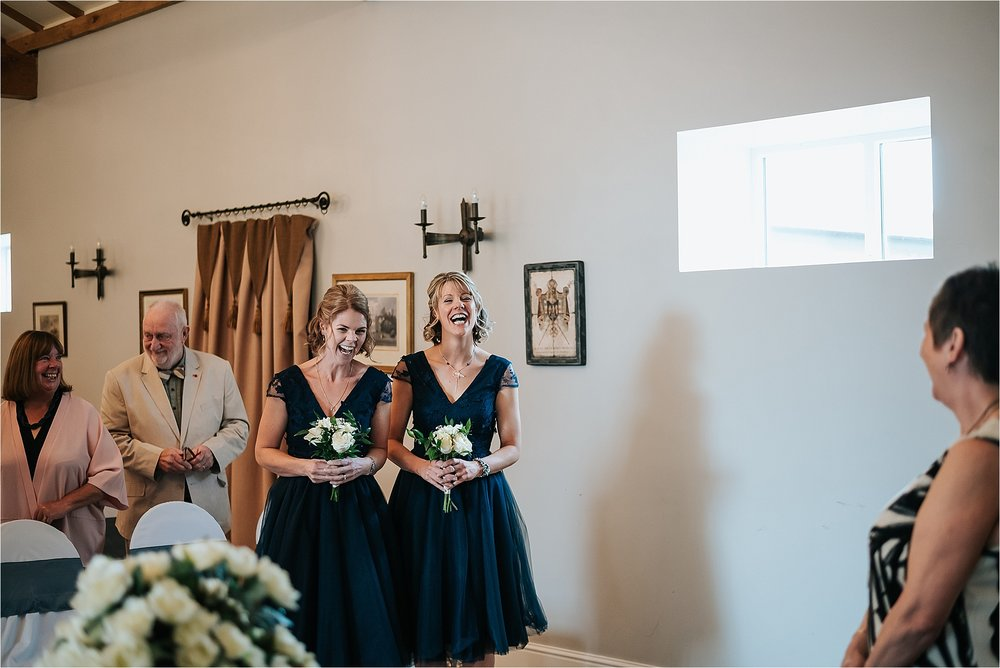 bridesmaids during the wedding ceremony