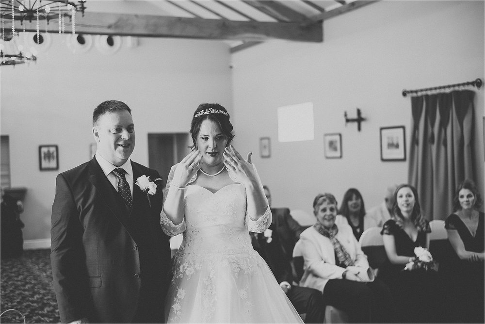 couple at wedding near lytham st annes