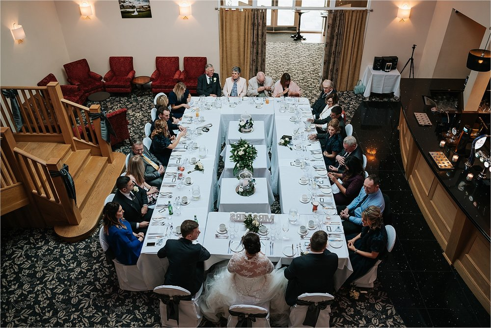 Intimate wedding breakfast at the villa