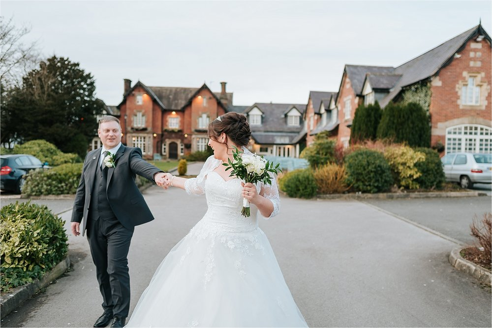 winter wedding at the villa wrea green