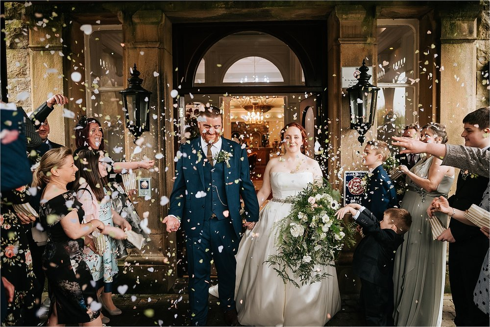 confetti photograph at the grange hotel