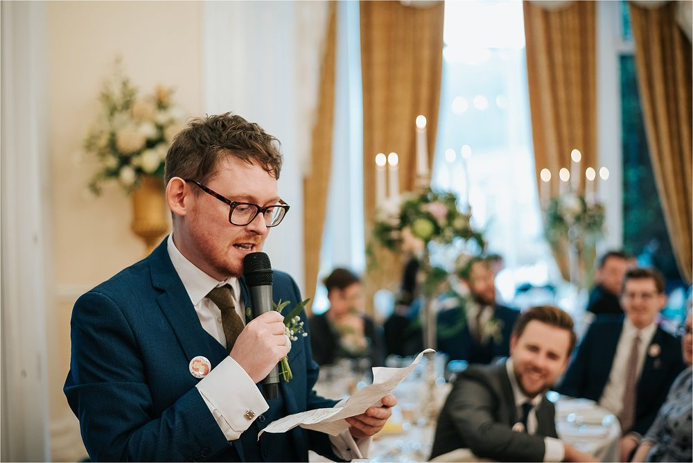 best man does wedding speech