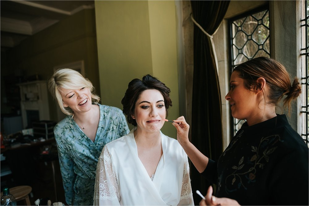 bride gets ready for wedding
