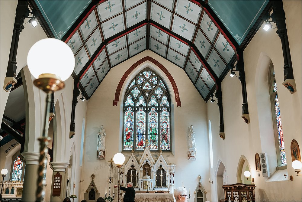 inside of ast marys and st james church scorton