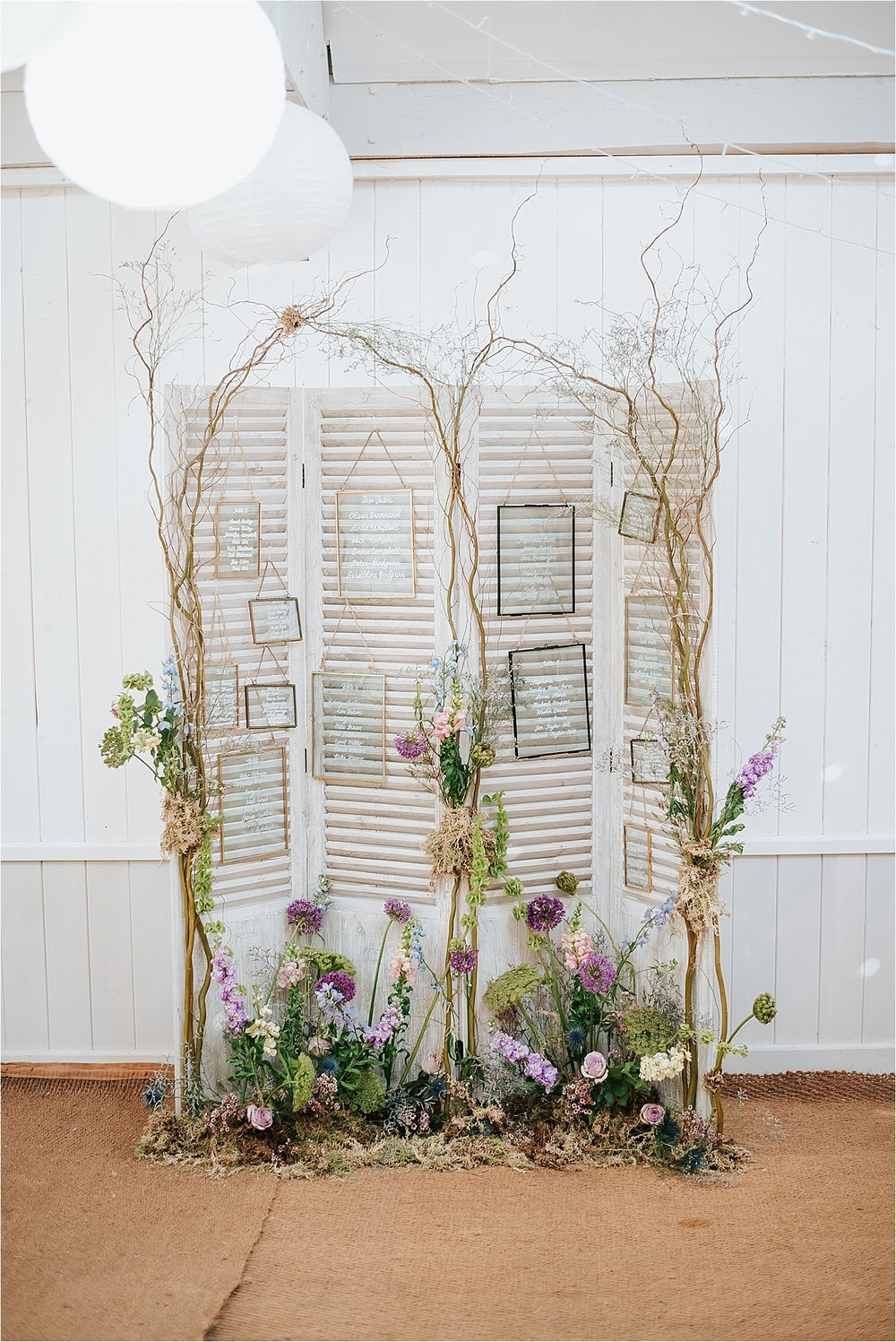 quirky table plan by bluebells and daisies