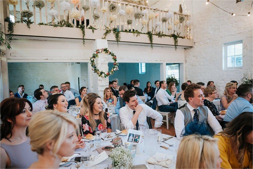 wedding speeches at wyresdale park wedding
