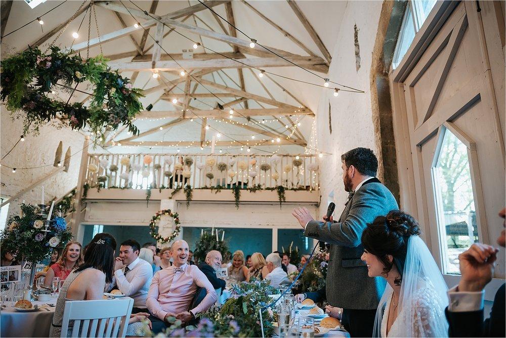 wedding breakfast at wyresdale park wedding