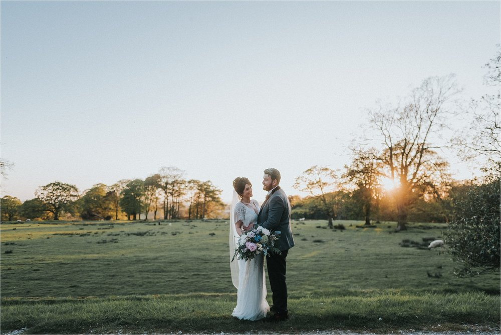 couple enjoy sunset at wyresdale park
