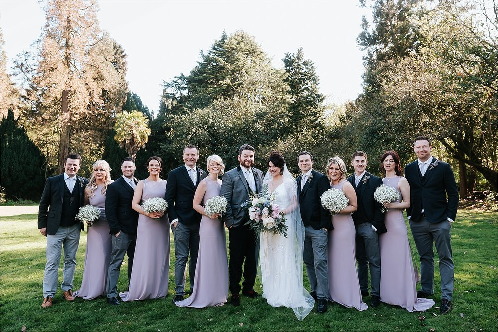 wedding party at wyresdale park