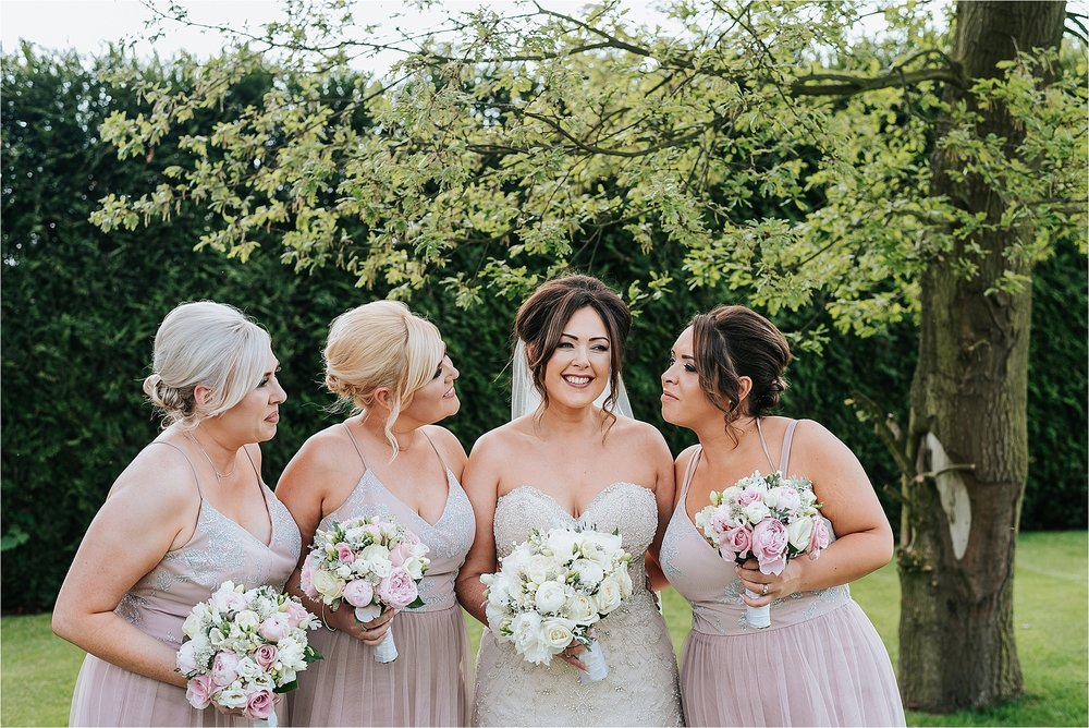 bridesmaids at west view summer wedding