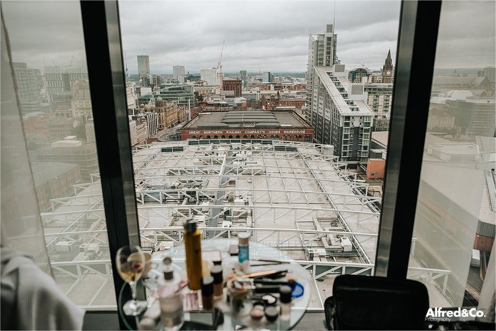 view from hilton deansgate