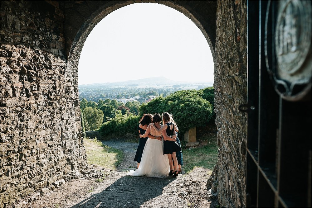 Bridesmaids at clitheroe castle wedding