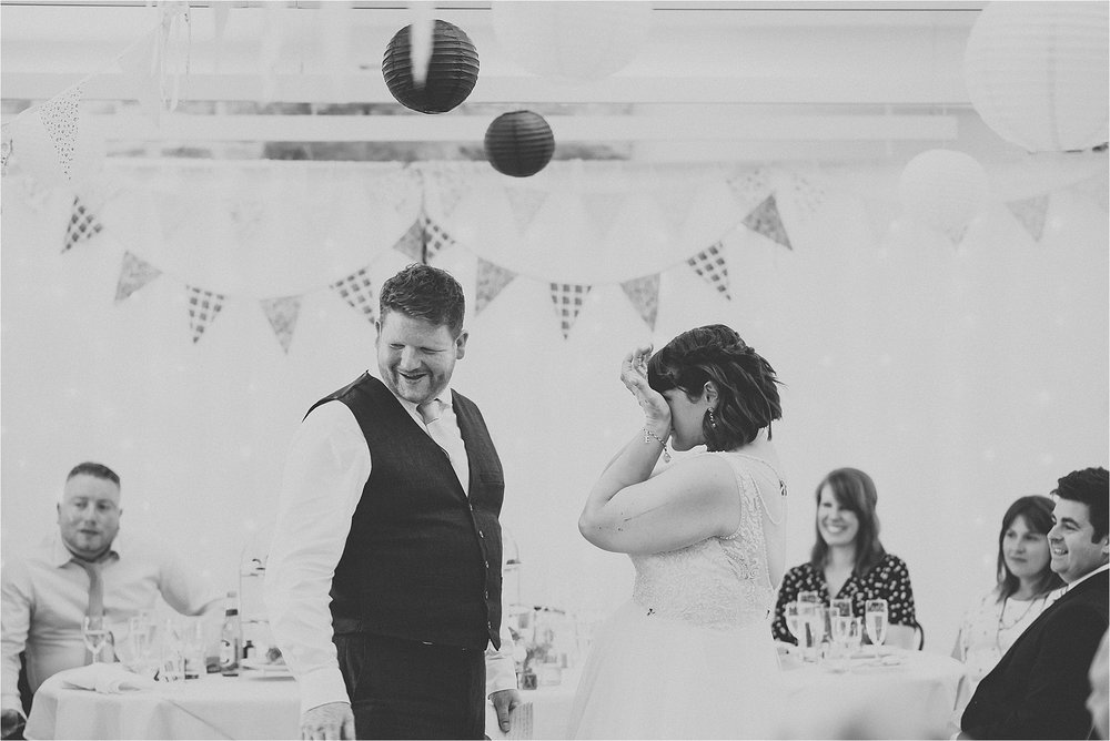 Groom makes bride cry at vintage inspired wedding