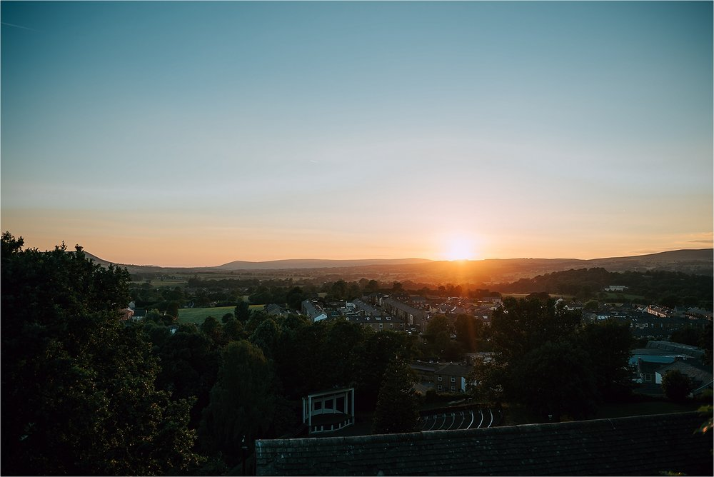 Sunset views at clitheroe castle