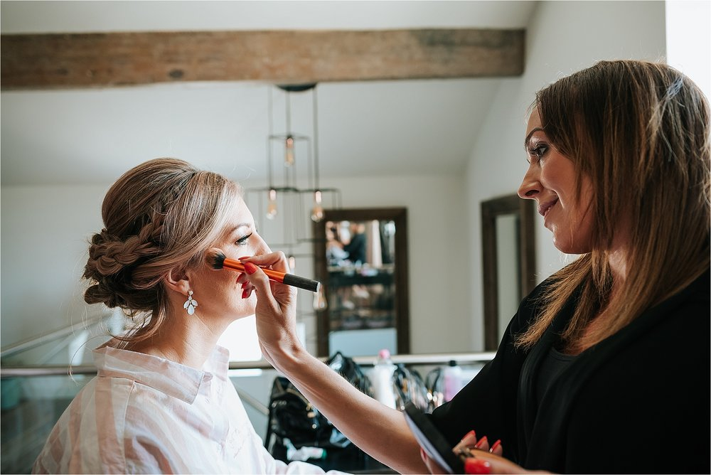 Lucie Make Up Artist at Holmes Mill Wedding