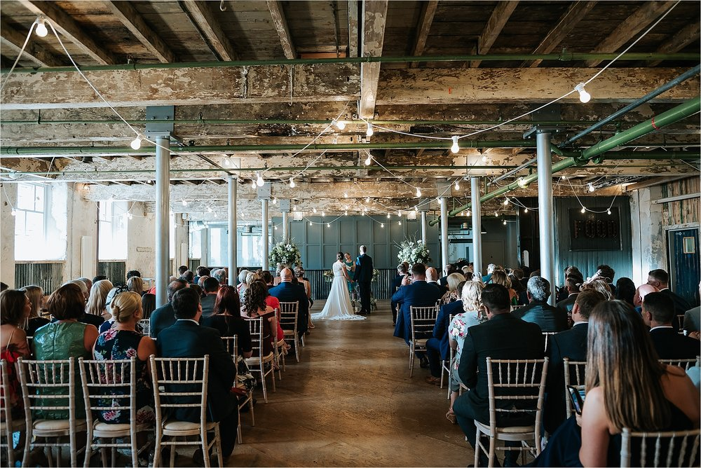 Wedding ceremony at Holmes Mill in Clitheroe