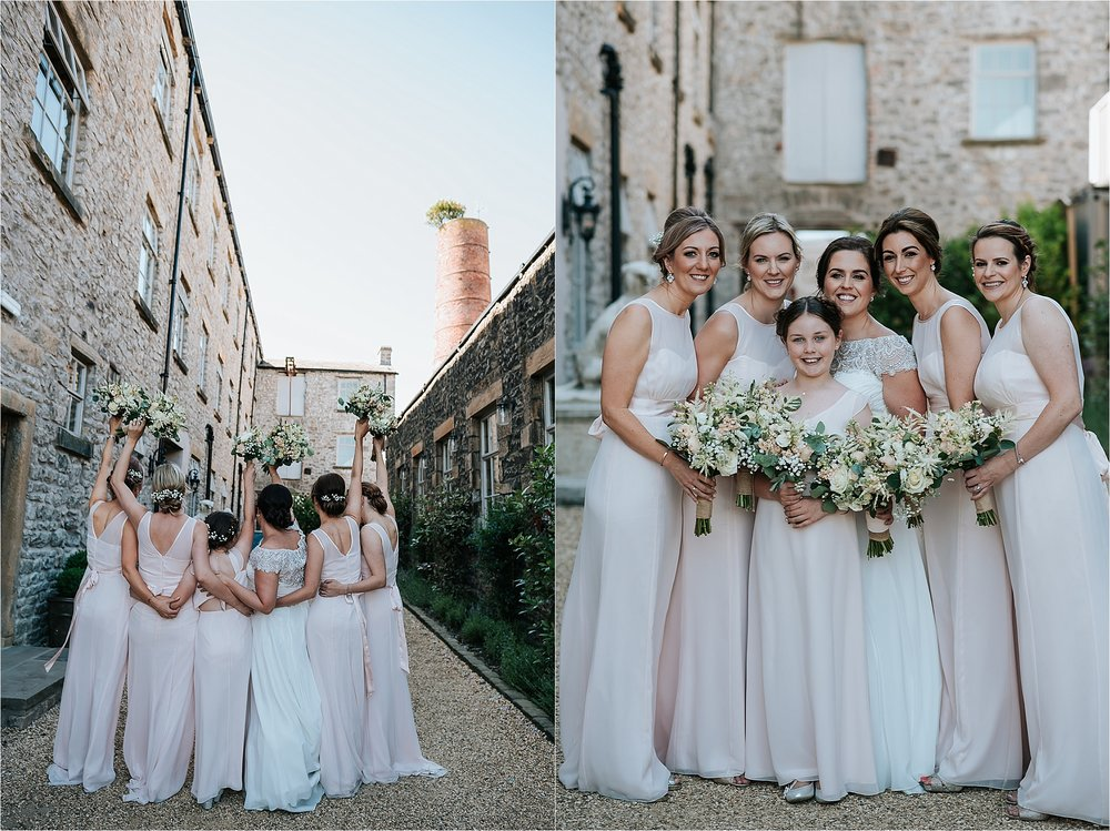 Beautiful bridesmaids at holmes mill