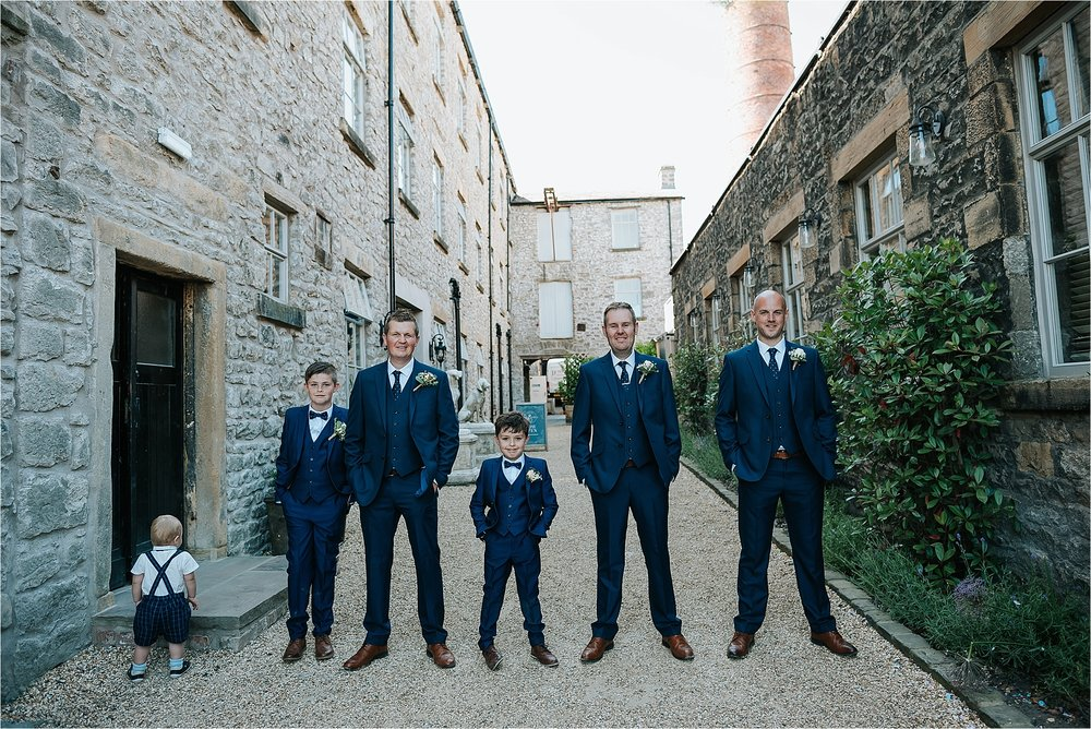 Groomsmen at Holmes Mill