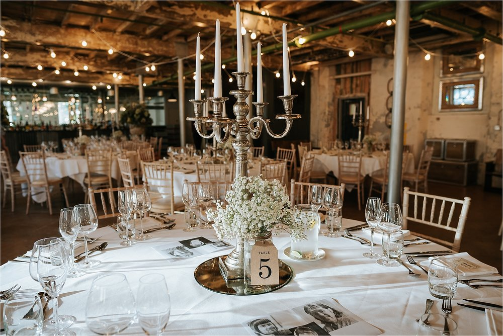 Holmes Mill set up for a rustic wedding