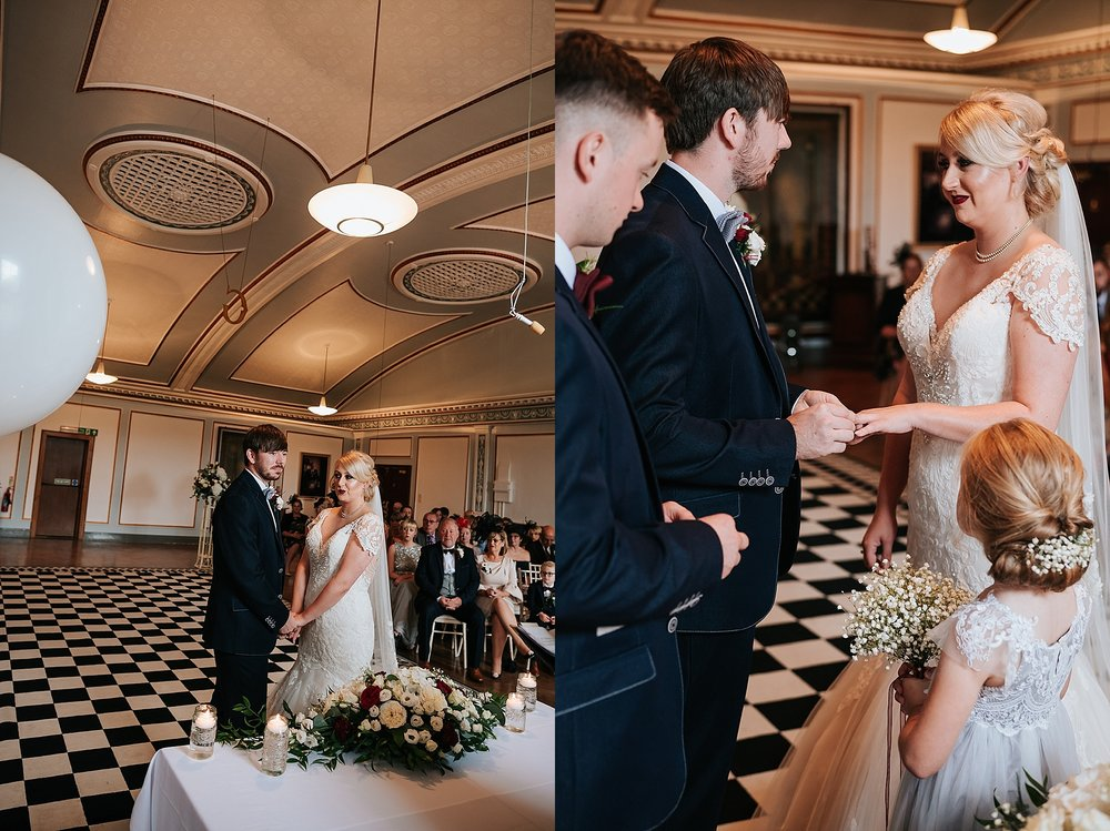 1940s style wedding in vintage wedding venue