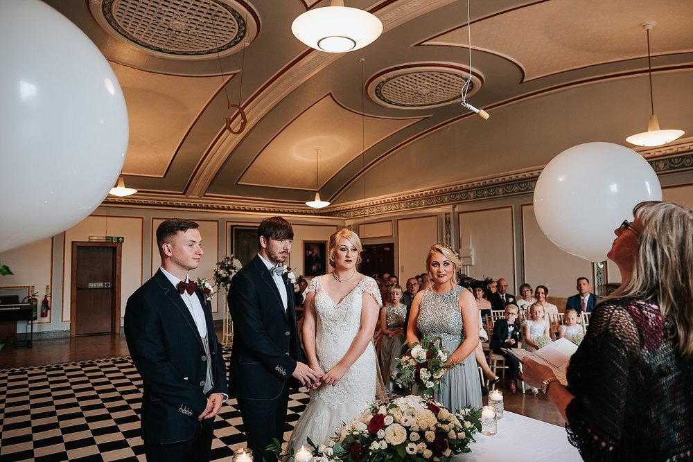glamorous 1940s style wedding at st annes palace