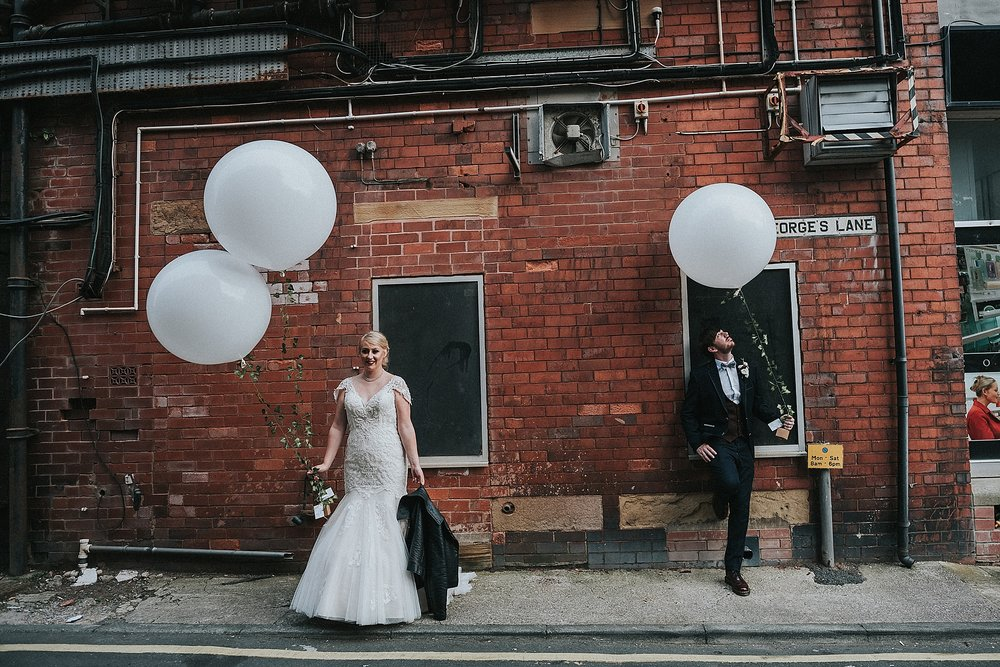 bride and groom in st annes