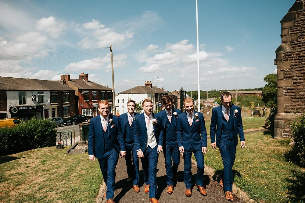 groomsmen at all saints church lancashire