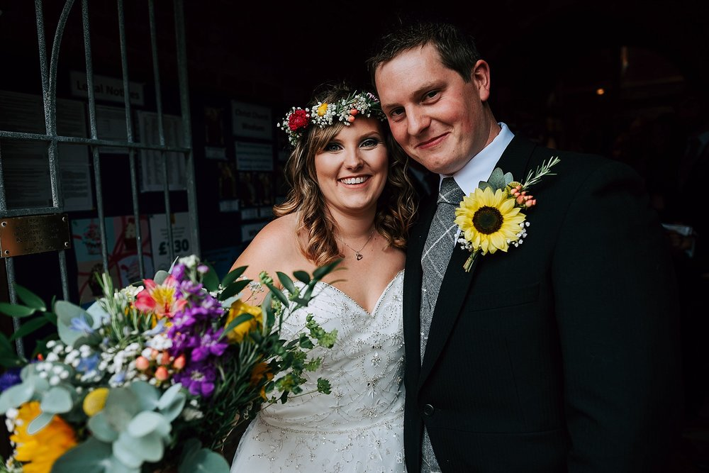 colourful wedding at ribby hall village on fylde coast