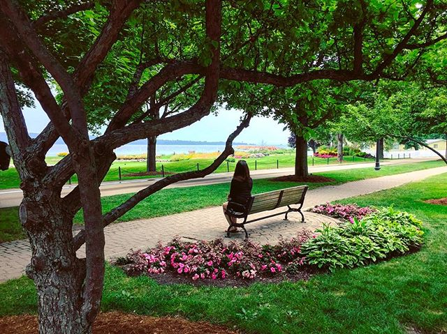 Somewhere In Time. #tbt #Mackinac #love #peaceful #Island #zen #readytogoback #beautiful #warm #sun #lake #green #ghosts #michigan #smile #picoftheday #instagram #instagood #flowers