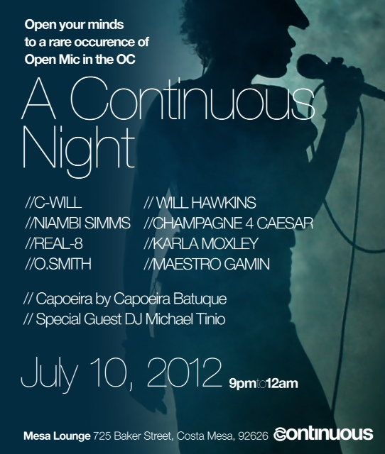 "Michael Tinio DJ set at ""A Continuous Night"",  Mesa Lounge in Costa Mesa.  July 10, 2012"