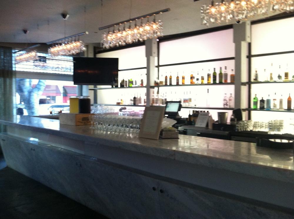 The bar at Pandora on Green