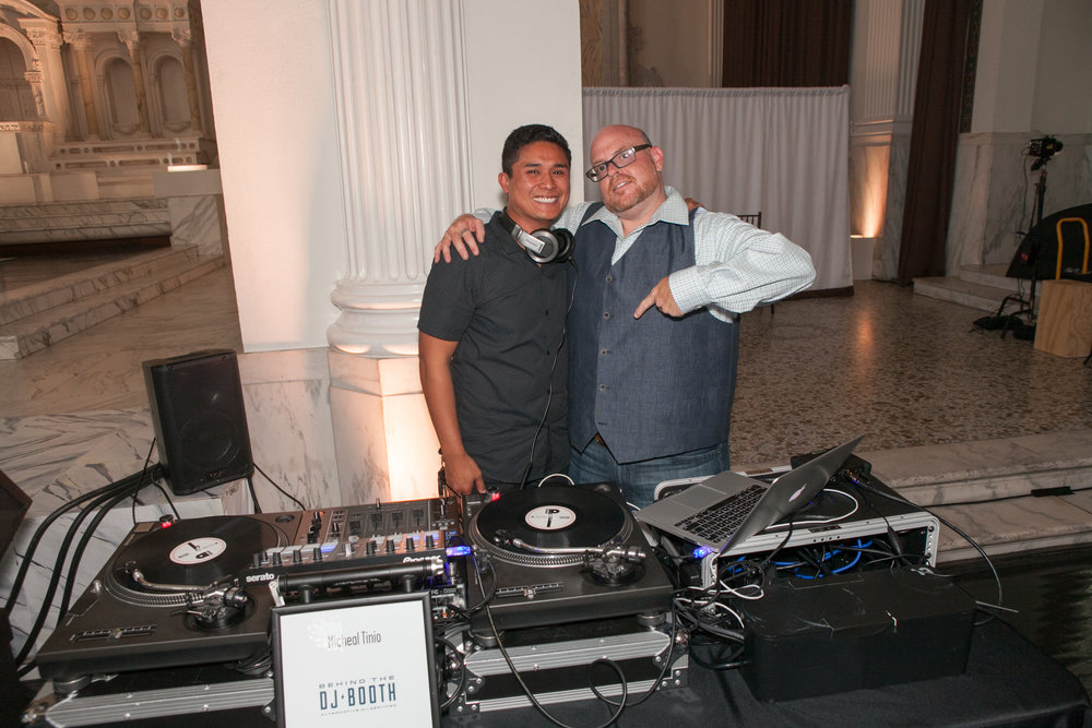 Food and wine charity event dj at Vibiana downtown Los Angeles