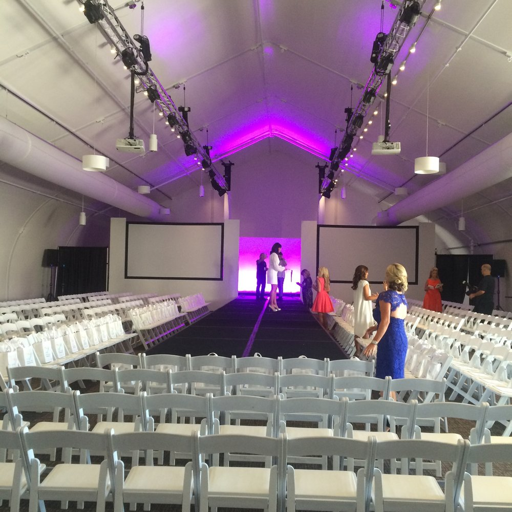 Setup for Fashion Show runway music.jpg