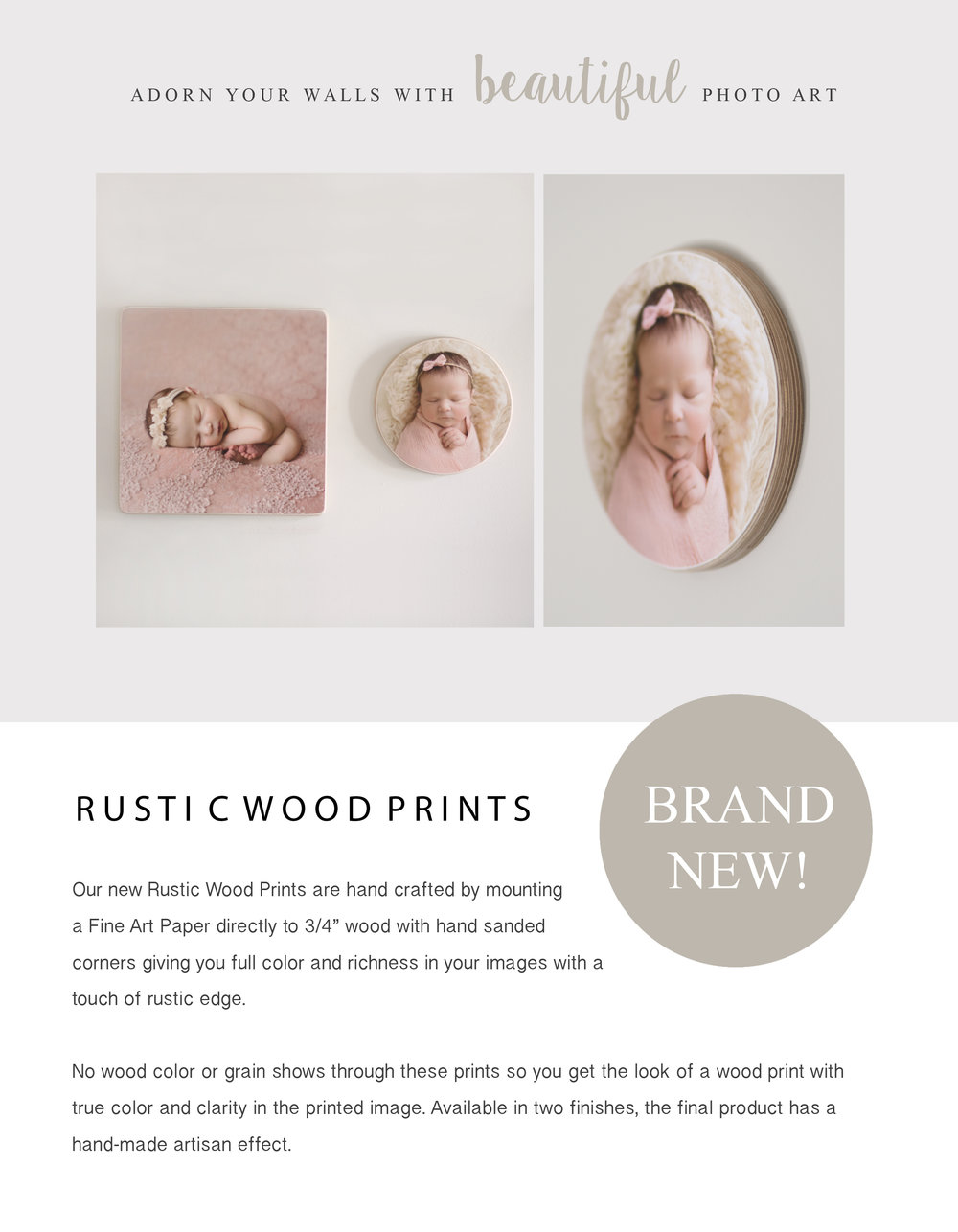 Maryland newborn photographer albums IPS in person sales