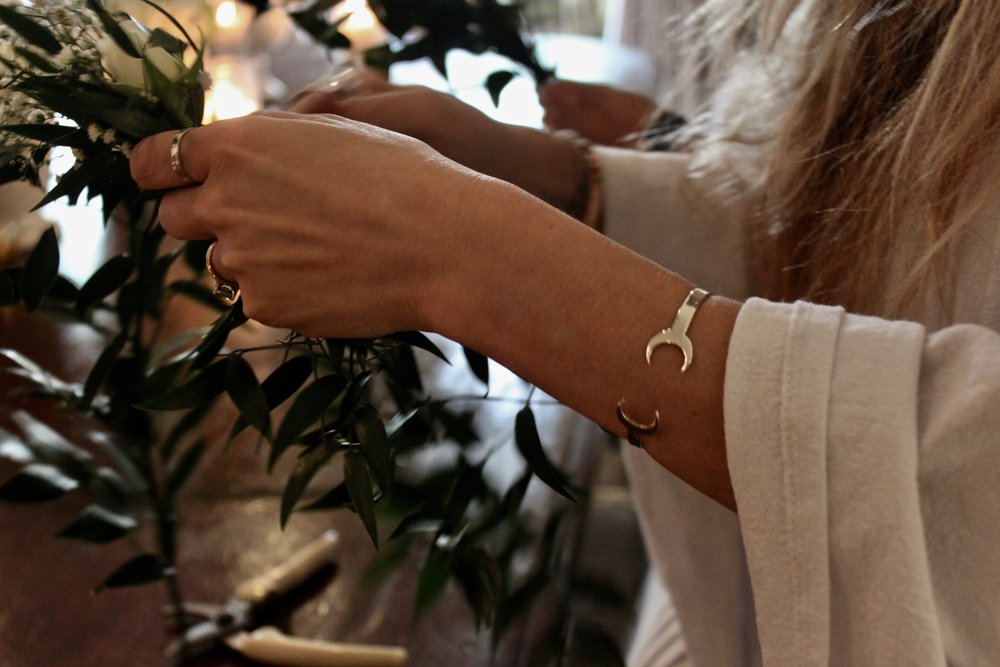Our luna cuff helping out in the process making.