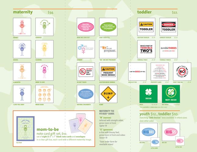 "8 1/2"" x 11"" brochure included in all online orders - INSIDE"
