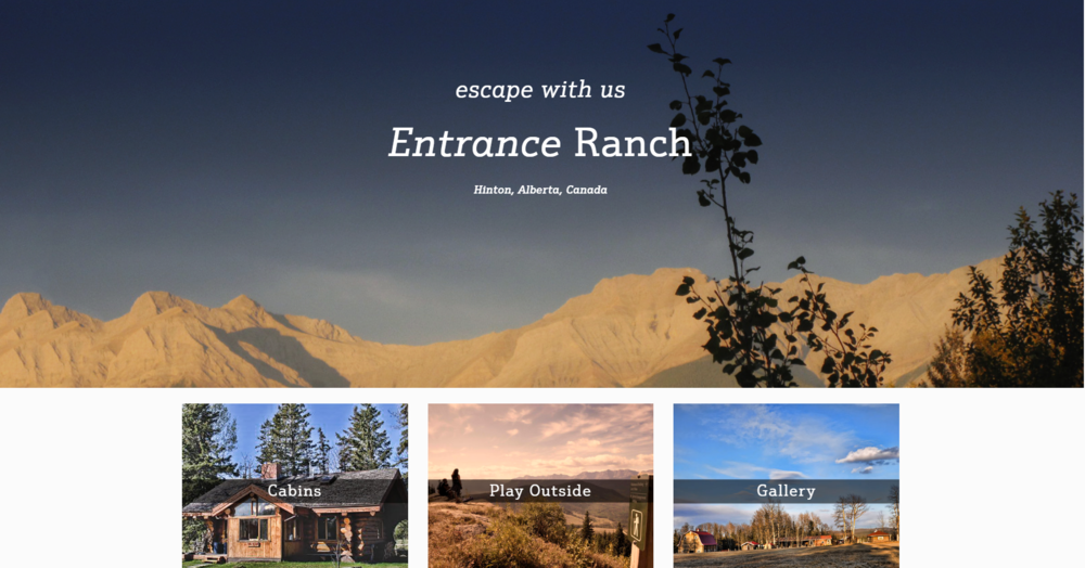 New Website for Entrance Ranch